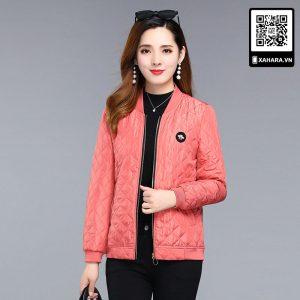 Áo khoác cotton ngắn nhẹ cho phụ nữ trung niên