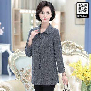Áo khoác dạ cao cấp, thanh lịch cho phụ nữ trung niên