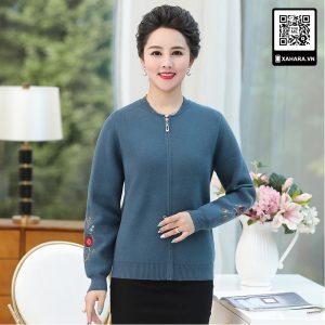 Áo khoác dệt kim đan len cho phụ nữ trung niên tuyệt đẹp