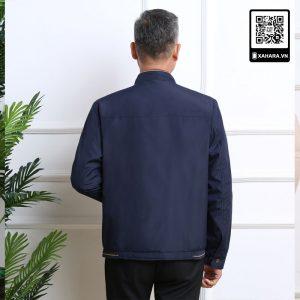 Áo khoác nam trung niên cao cấp, cổ ngắn, sang trọng