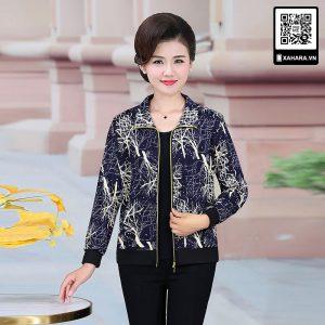 Áo khoác ngắn kiểu mới cho phụ nữ trung niên u40, u50