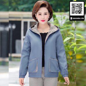 Áo khoác thu đông cho phụ nữ trung niên tuổi 40, kiểu dáng Hàn Quốc