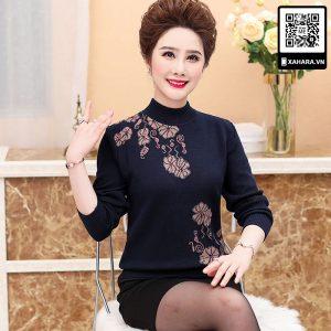 Áo len cao cấp cho phụ nữ trung niên u40, u50 đẹp, ấm