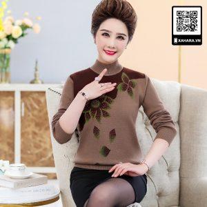 Áo len nữ trung niên cao cấp, chất nhẹ mặc ấm