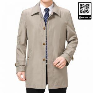 Áo khoác nam trung niên cao cấp dáng dài, nhiều màu