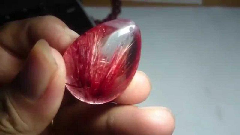 Đá thạch anh tóc đỏ tín đồ bạn yêu trang sức đá phong thủy