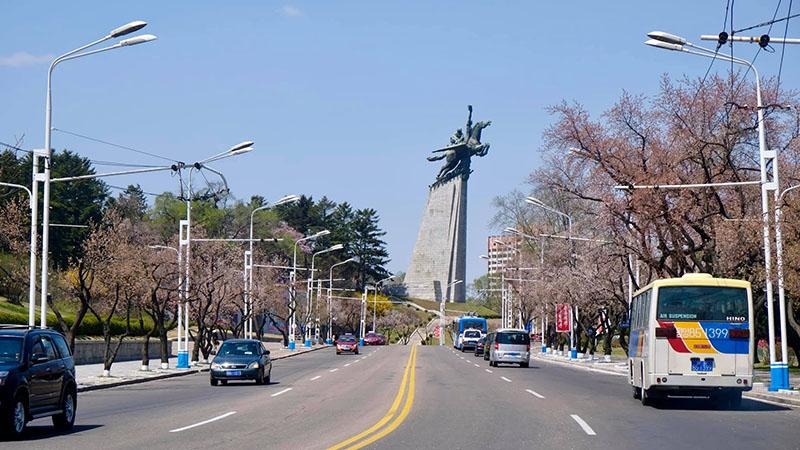 Đèn đường giao thông tại Triều Tiên