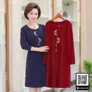 Đầm thu đông đẹp cho phụ nữ trung niên