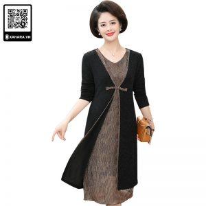 Đầm thu đông trung niên đẹp, giản dị, trang nhã