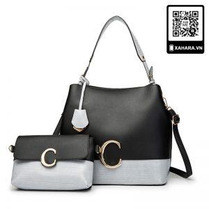 Bộ túi xách nữ thời trang, sắc màu tương phản