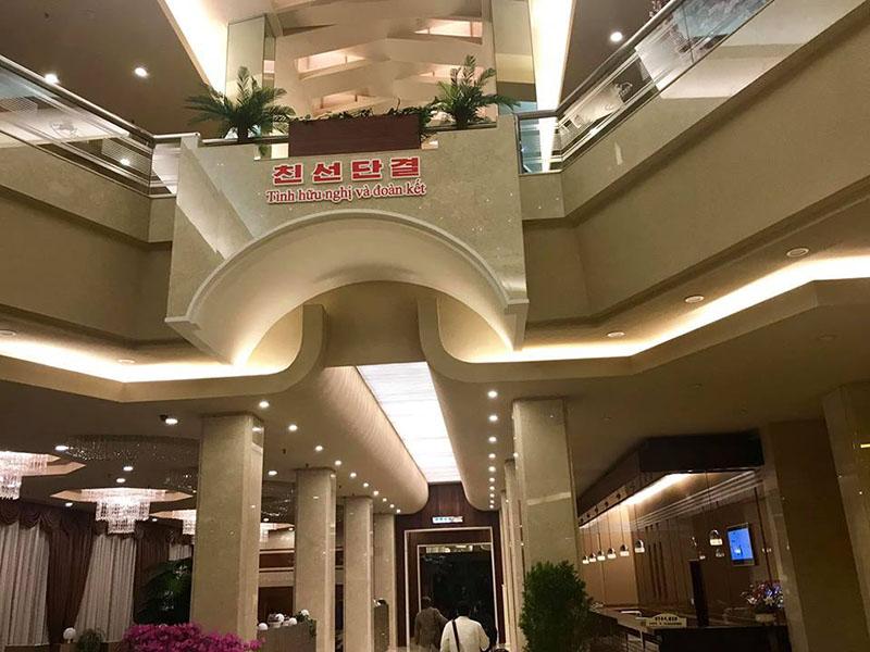 Khách sạn 5 sao chào đón đoàn Việt Nam sang thăm Triều Tiên