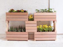 Mẫu chậu hoa bằng gỗ đẹp