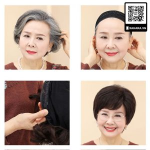 Tóc giả cho phụ nữ lớn tuổi Xahara X1