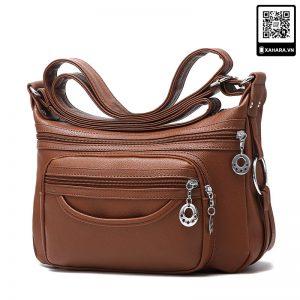 Túi xách đeo chéo nữ trung niên, ngăn chứa đồ rộng rãi