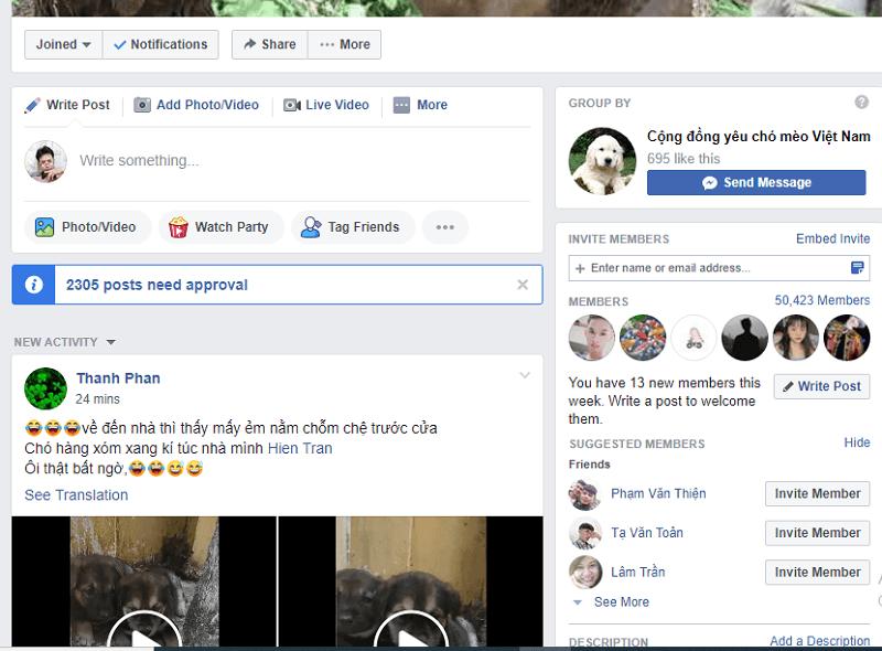 Xóa bài viết đang kiểm duyệt pending post trong nhóm Facebook