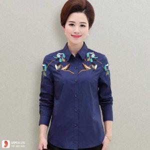 10 mẫu áo sơ mi nữ tuổi trung niên đẹp dành cho công sở