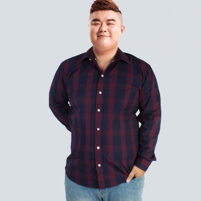 Chọn áo sọc dài cho người béo bụng