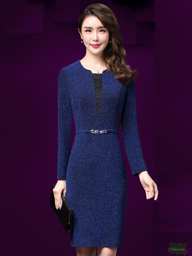 Bạn có thể xác lập phong cách nhờ đầm trung niên Hàn Quốc.