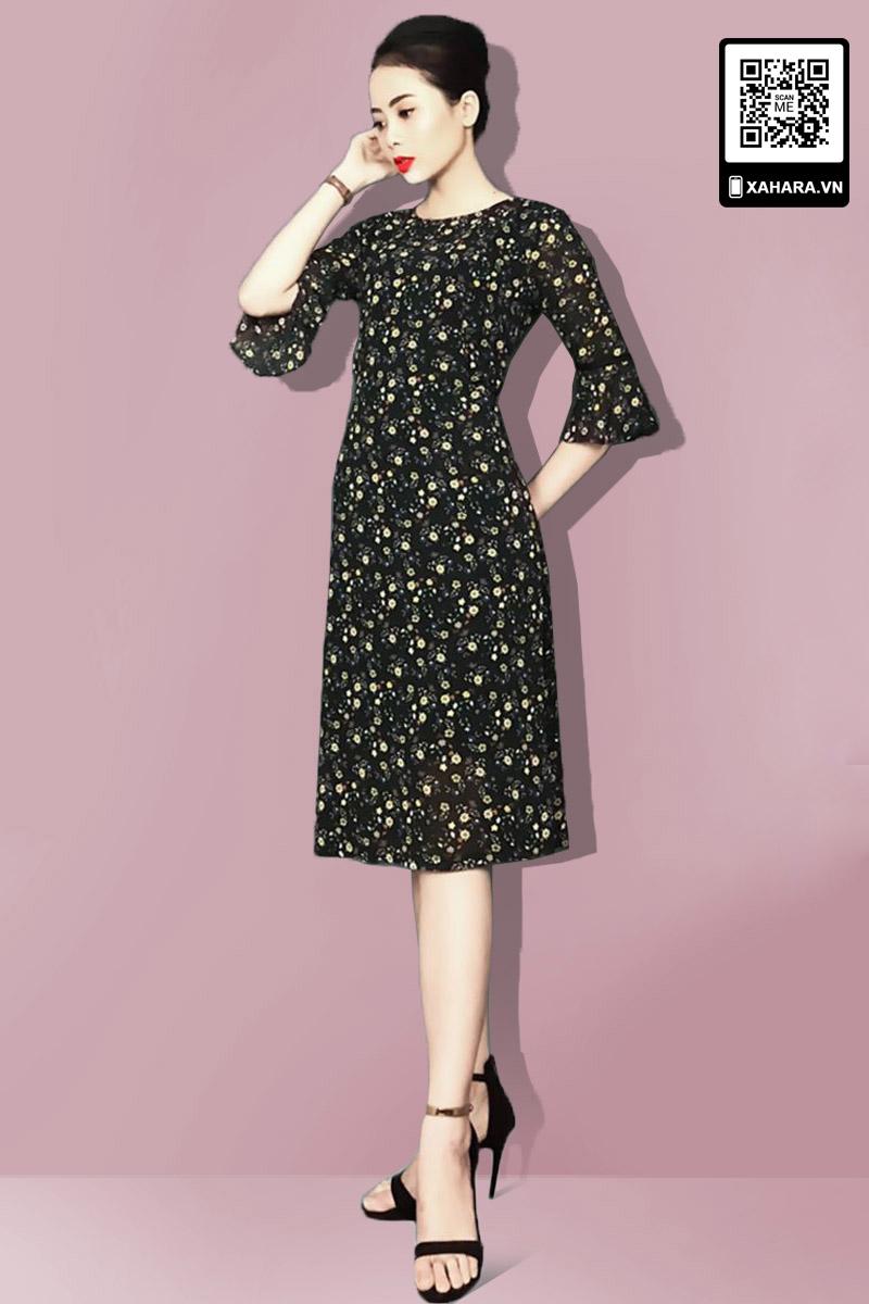 Đầm trung niên sang trọng đen