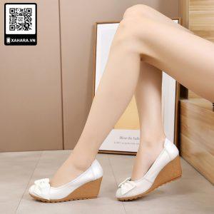Giày cao gót đế xuồng, da cao cấp, tăng 7cm chiều cao, nhiều màu