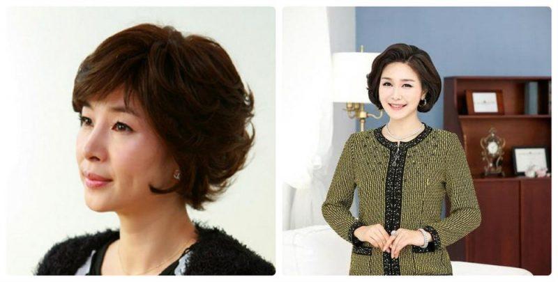 Kiểu tóc bob uốn cụp nhẹ nhàng giúp quý cô thêm trẻ trung, đằm thắm và thanh lịch hơn.