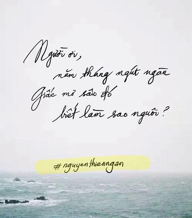thơ Nguyễn Thiên Ngân