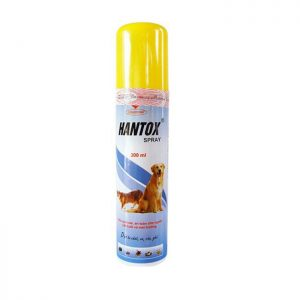Thuốc trị ve rận, bọt chét cho chó mèo Hantox Spray 300ml