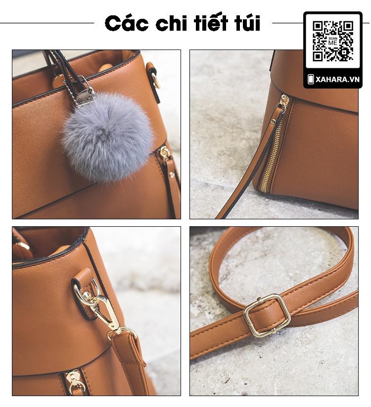 Túi xách da PU cao cấp dành cho phụ nữ size lớn các chi tiết