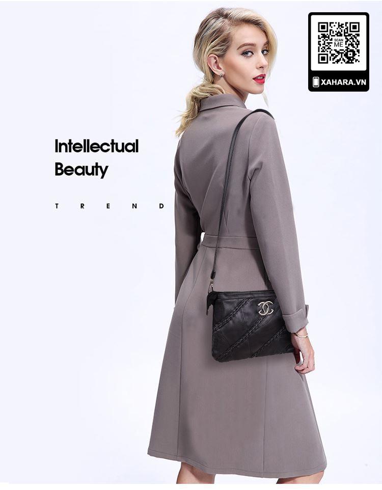 Túi xách đeo chéo nữ chất liệu da cừu bền đẹp đeo chéo