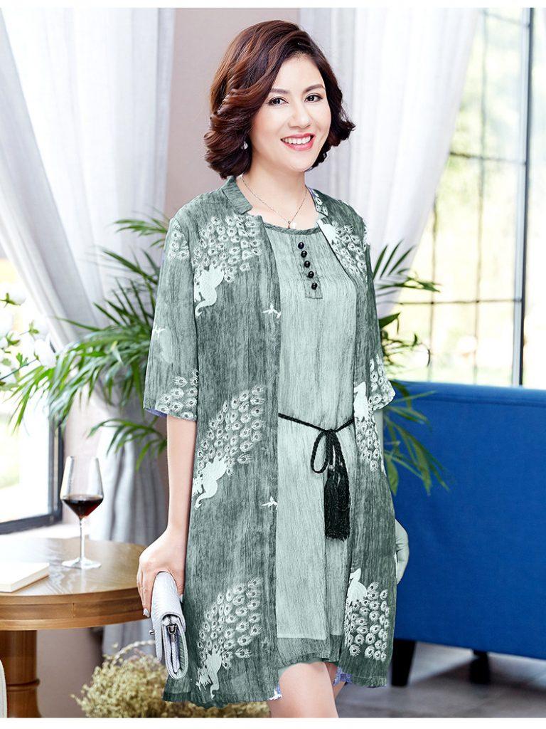 váy đầm trung niên 2- Xahara