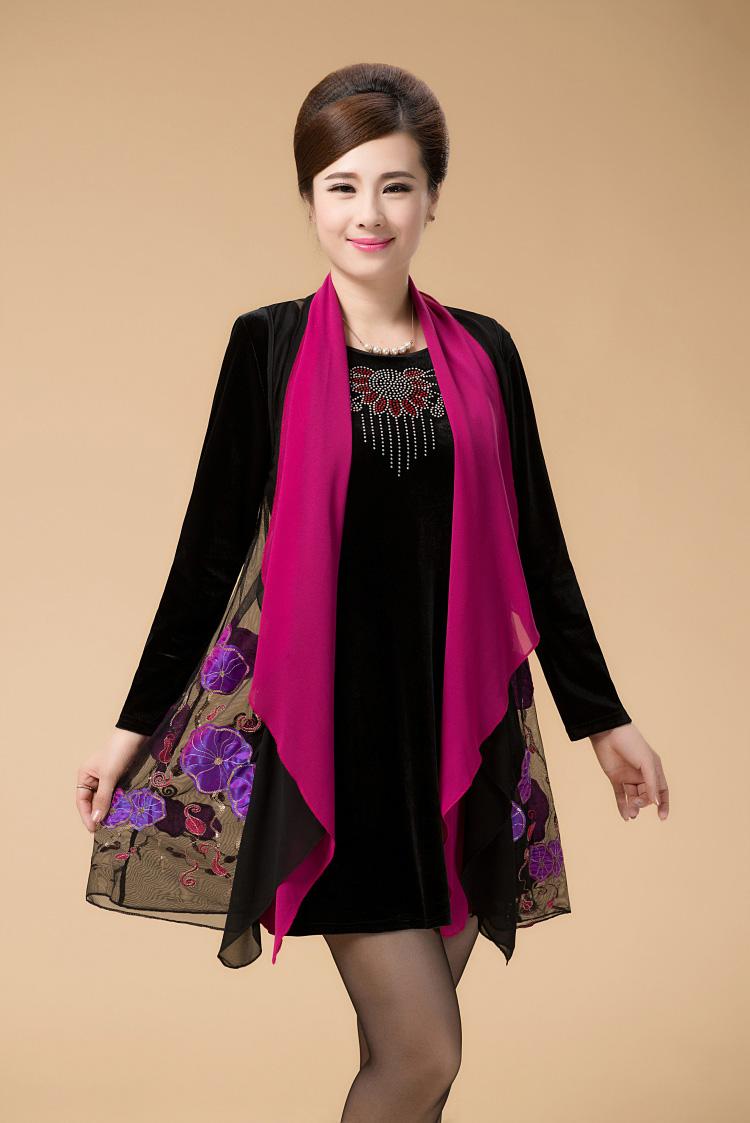 váy đầm trung niên 5- Xahara