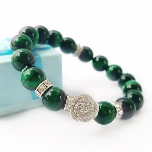 vòng tay đá phong thủy xanh lá
