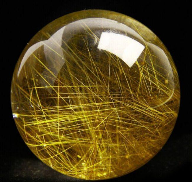 hạt vòng đá thạch anh tóc vàng